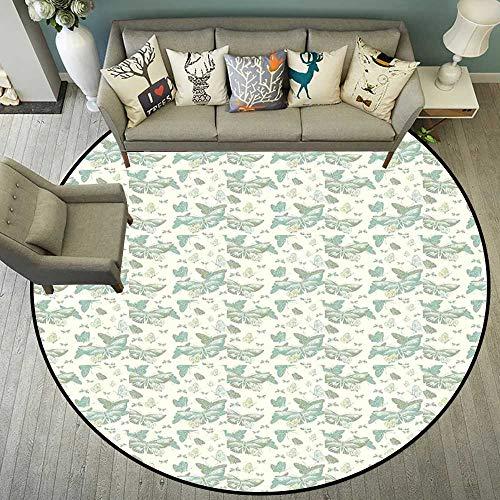Circle Floor mat Under Treadmill Round Indoor Floor mat Entrance Circle Floor mat for Office Chair Wood Floor Circle Floor mat Office Round mat for Living Room Pattern 4'11