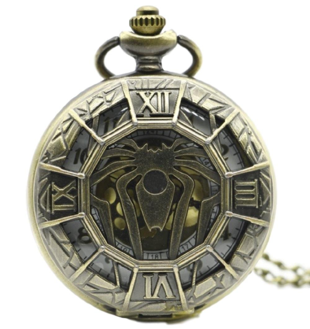Marvel's Spiderman Spider Bronze Finish Pendant Pocket Watch