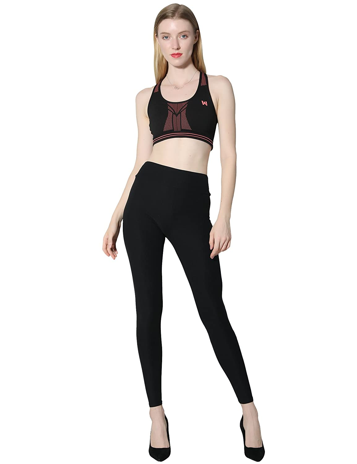 a0ec82b351b0f Diravo High Waist Leggings for Women, Soft Slim Pants, Stretch Basic  Leggingsfor Running Yoga Workout Fitness at Amazon Women's Clothing store: