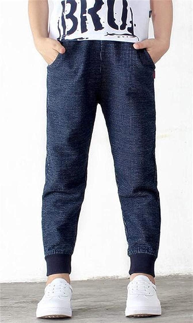 pipigo Boys Slim Basic Cotton Sweatpants Jogging Cute Pants