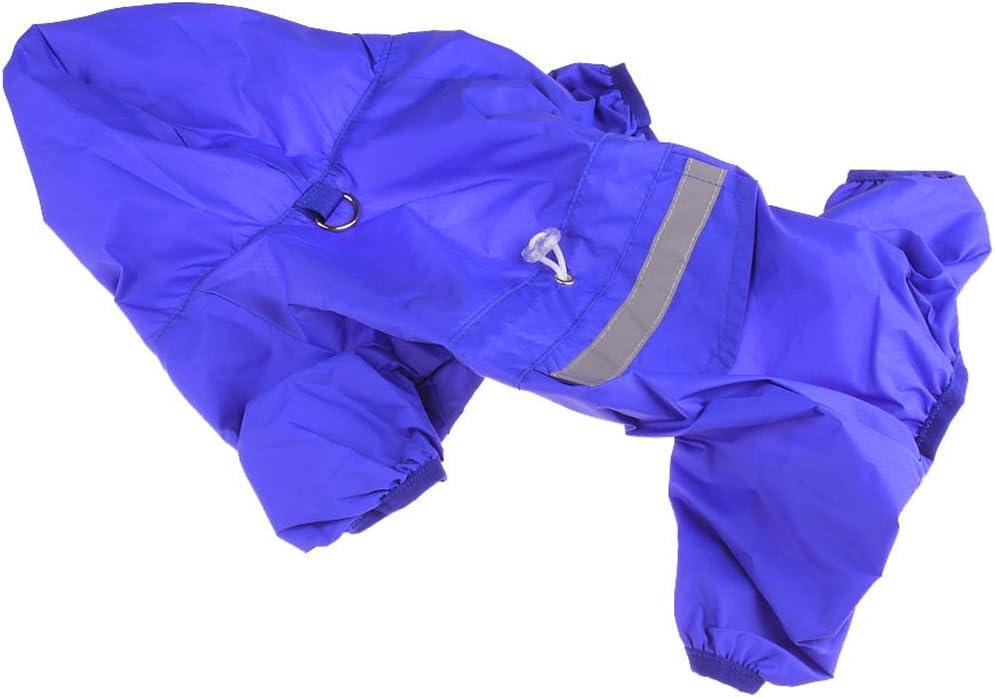 Xiaoyu einstellbare Pet Hund wasserdichte Overall Regenmantel Jacke mit sicheren reflektierenden Streifen
