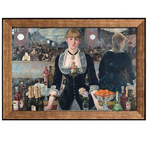 A Bar at the Folies Bergere by Edouard Manet Framed Art