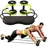 LIWEISDSDFS Abdominal Power Roll Trainer Sport Core Double AB Roller Exercise Equipment Coaster Pull Roda Waist Slimming Trainer