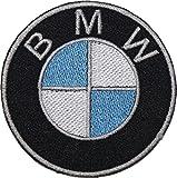 Jean Junction BMW Écusson brodé avec logo à coudre ou à thermocoller 8,9cm