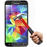 EVERMARKET(TM) Premium Tempered Glass 9H-Hardness Screen Protector Flim for Samsung Galaxy S5 I9600 - 1 Pack