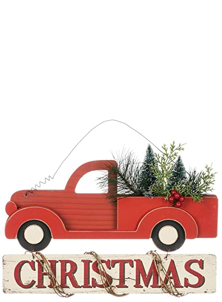 Amazon Sullivans 15 Rustic Wood Pickup Truck Christmas Sign