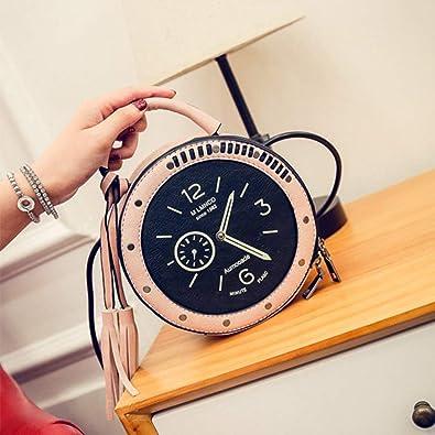 57f92753954b8 Einzigartiges Design-runde Uhr-Form-vorzügliche Umhängetasche Crossbody -Beutel-Handtaschen-