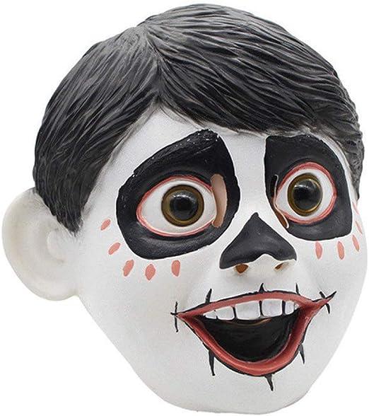 LLWGNZM Mascara-Scary Halloween Skull Latex Mask Full Head Movie ...