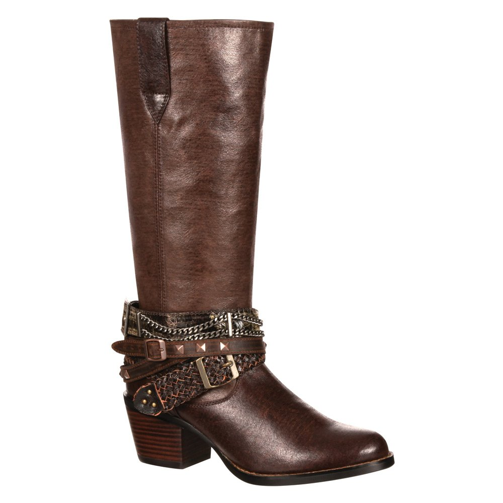 Durango Women's Chocolate Philly Accessorized Western Boot Round Toe - Drd0073 B00RCUV6PY 8 B(M) US|Brown