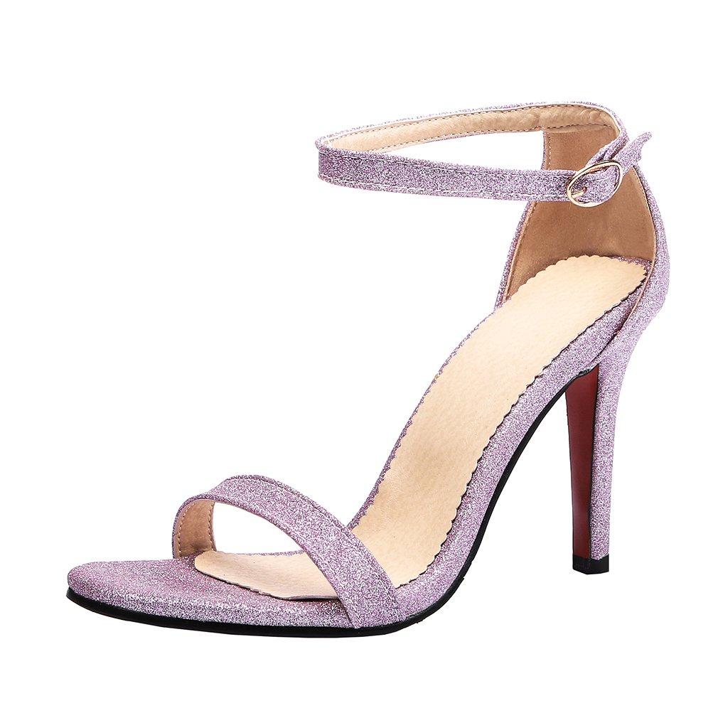 Y2Y Studio Femmes Club Sandales Bride Y2Y Cheville Talon Soirée Aiguille Brillant Mariage Peep Toe pour Soirée Partie Et Club Violet 389c129 - piero.space