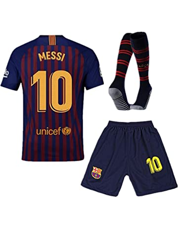 17b0500b5a0 Barcelona #10 Messi Home Kids and Youth Soccer Jersey & Shorts & Socks  Color Blue