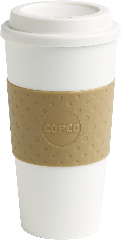 Copco 2510-9968B opco 16-Ounce Capacity Acadia Reusable To Go Mug, 16 ounces, Tan