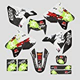 JFG RACING Custom Motorcycle Complete Adhesive Decals Stickers Graphics Kit For 99-13 Suzuki DRZ400E
