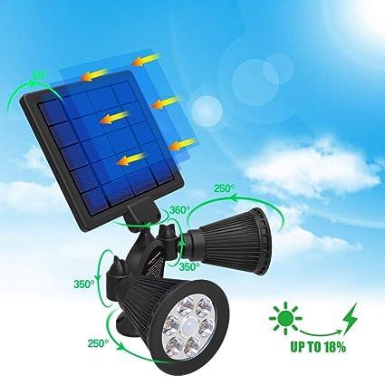 GXZOCK - Foco Solar de 12 LED con Sensor de Movimiento, luz de Pared para