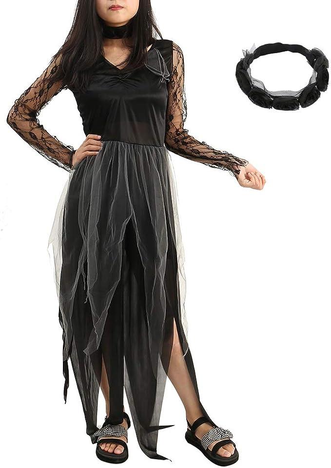 ZhongYeYuanDianZiKeJi Disfraces de Halloween Mujer Fantasma ...