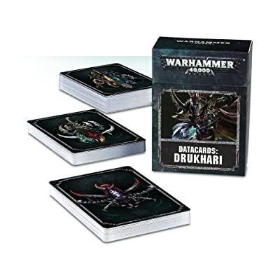 Games Workshop Warhammer 40,000 Drukhari Datacards 8th Edition: Toys & Games