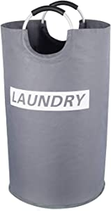 """Lifewit Extra Large Laundry Hamper Collapsible Clothes Basket Oxford Fabric Portable Folding Washing Bin for Bedroom, Laundry Room, Closet, Bathroom, College, 16.9"""" D × 27.9"""" H, Grey"""