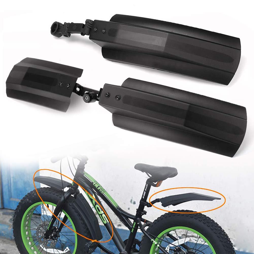 Alivier Juego de Guardabarros Trasero de Bicicleta de monta/ña port/átil de 26con Guardabarros Delantero
