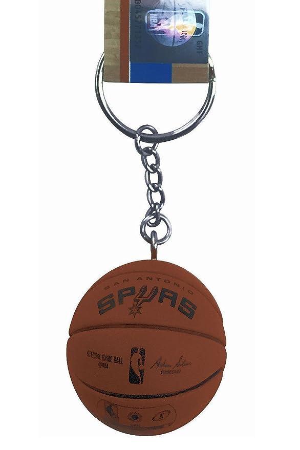 NBA llavero oficial de mini baloncesto Spalding, San Antonio ...