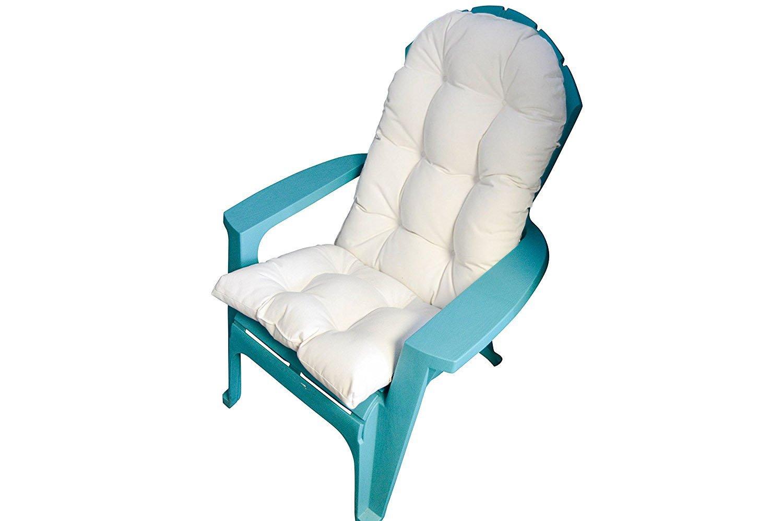RSH DECOR Outdoor Tufted Adirondack Chair Cushion – Sunbrella Canvas White