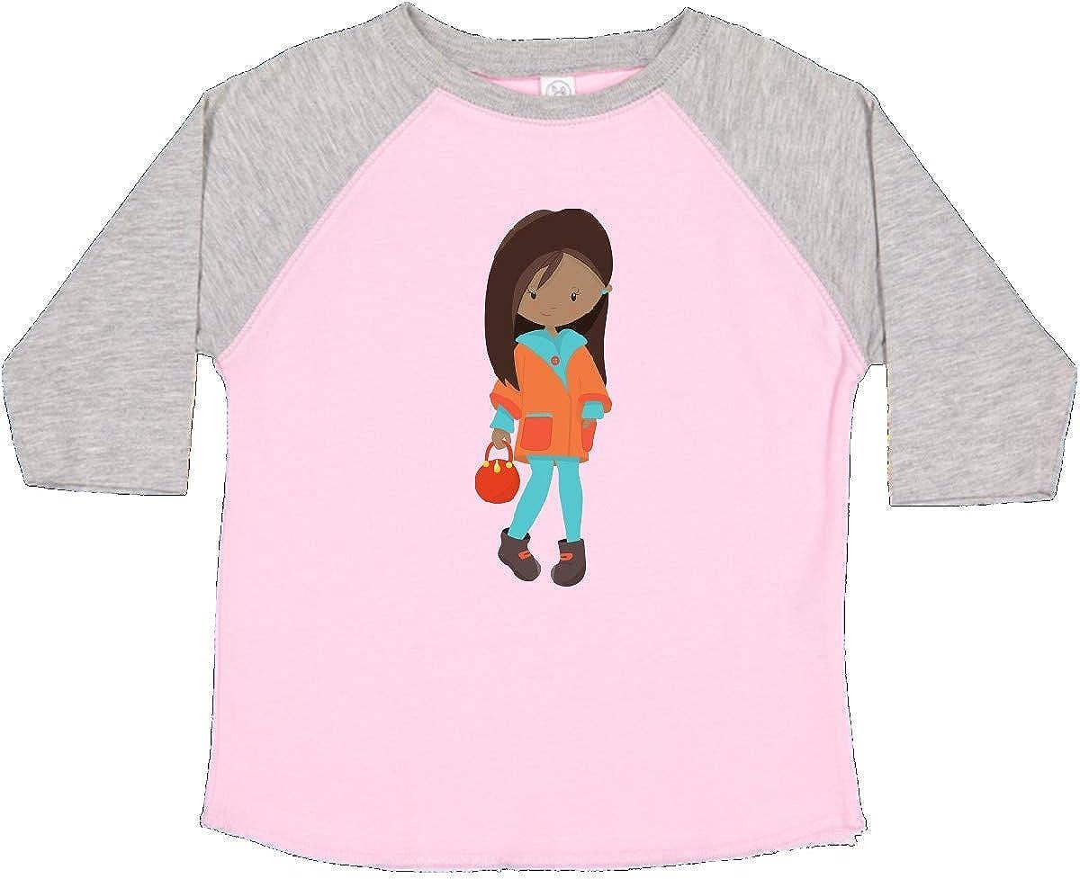 Orange Jacket Toddler T-Shirt inktastic African American Girl Fashion Girl