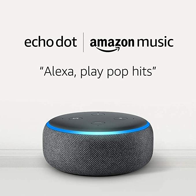 Echo Dot (3rd Gen) for $0.99 and 1 month of Amazon Music Unlimited with Auto-renewal -Charcoal