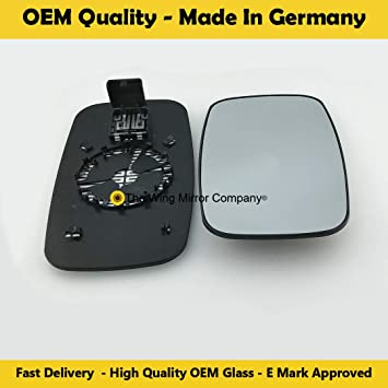 Left Side Covex Wing Mirror Glass For Nissan Cabstar Clip On Heated Fits to reg