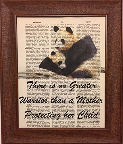 Mother Protecting Her Child Dictionary Book Page Artwork Print Picture Poster Home Office Bedroom Nursery Kitchen Wall Decor - ()