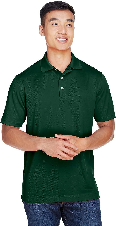 Harriton Mens Double Mesh Sport Shirt BLACK 4XL