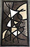 Gallery Modern Abstract Door Mat Chocolate Brown & Black Contemporary Design GL24 (2 Feet X 3 Feet 4 Inch)