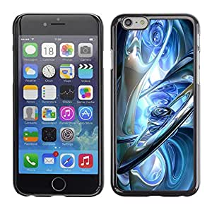 All Phone Most Case / Hard PC Metal piece Shell Slim Cover Protective Case Carcasa Funda Caso de protección para Apple Iphone 6 glass blue ice earth planets aliens sci-fi