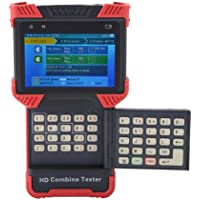 Akozon IP Cámara Tester HD CCTV Tester Monitor 5 en 1 Multímetro Analógico Coaxial Monitor de Video Tester 4 Pulgadas IPS Pantalla Soporte H.264 / H.265 / 4K (DT-T72)