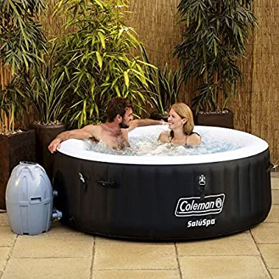 """Coleman 71"""" x 26"""" Inflatable Spa 4-Person Hot Tub with 6 Filter Cartridges"""