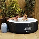 """Coleman 71"""" x 26"""" Portable Spa Inflatable 4-Person Hot Tub, Black, 13804"""