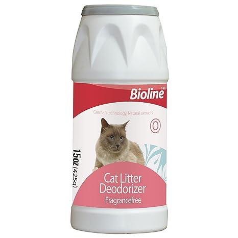 Polvo desodorante para arena de gato (425 g) Fuerte poder desodorante mantiene a sus