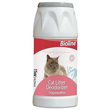 Polvo desodorante para arena de gato (425 g) Fuerte poder desodorante mantiene a sus gatos arena fresco para más tiempo