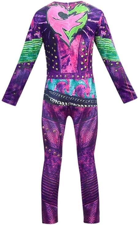 CVDEKH Disfraz de Halloween para niñas Disfraces Descendientes 3 ...