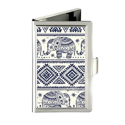 Tribal Totem Elephant Aztec Custom Sell well Business Card Holder Name Case Stainless Box Case Lovely Gift