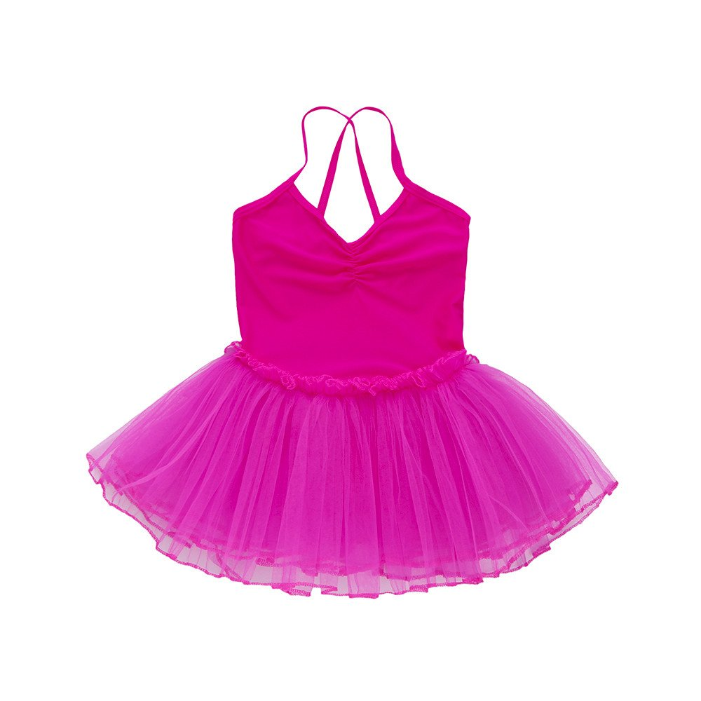 2-6 Years Toddler Girl's Ballet Dress Cute Tutu Dance Dress Gymnastics Strap Sweetheart Leotard Clothes Outfits (Hot Pink, 6T(6 Years))
