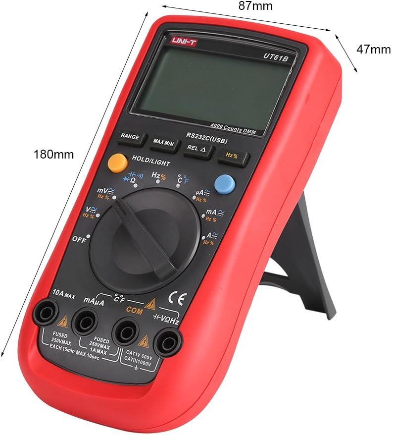 con Capacidad de Resistencia Mult/ímetro Digital para cafeteras Cafopgrill UT61B