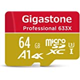 Gigastone 64GB Micro SD Card MicroSD U3 UHS-I C10, UHD 4K Video Recording, 4K Gaming, Read/Write 95/30 MB/s, with MicroSD to SD Adapter, Nintendo Dashcam Gopro Canon Nikon Camera Samsung Drone