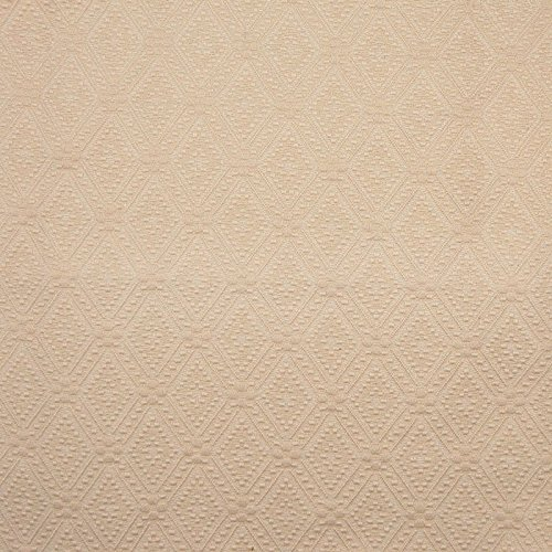 Ecru Neutral Diamond Geometric Medallion Solid Cotton Woven Upholstery Fabric by the - Ecru Upholstery