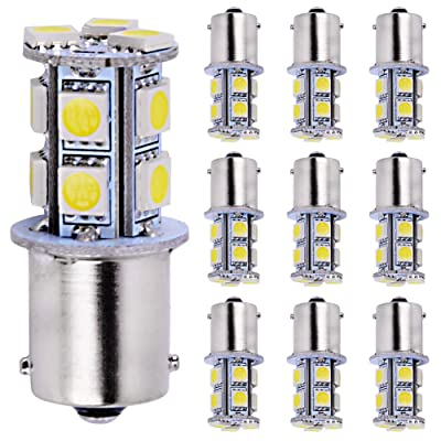 AUTOSAVER88 1156 LED Bulbs White, 1003 1141 7506 BA15S LED Bulb for RV Trailer Camper Interior Signal Backup Light, 10-Pack: Automotive
