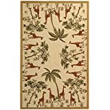 Safavieh Chelsea Collection HK57A Hand-Hooked Ivory Wool Runner, 2-Feet 6-Inch by 12-Feet