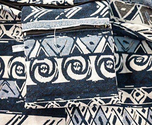 Estampado azteca 40 Oscuro estampados compra cachemira en elefante algodón ancha cruzado real Azul Diseño Bolso al pecho tortuga carpa para pavo margarita de búho hombrera FwxSBWY6q