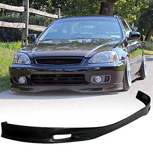 (99-00 Honda Civic Ek 2/3/4 Door Spoon Style Add-On Front Bumper Lip Polyurethane)