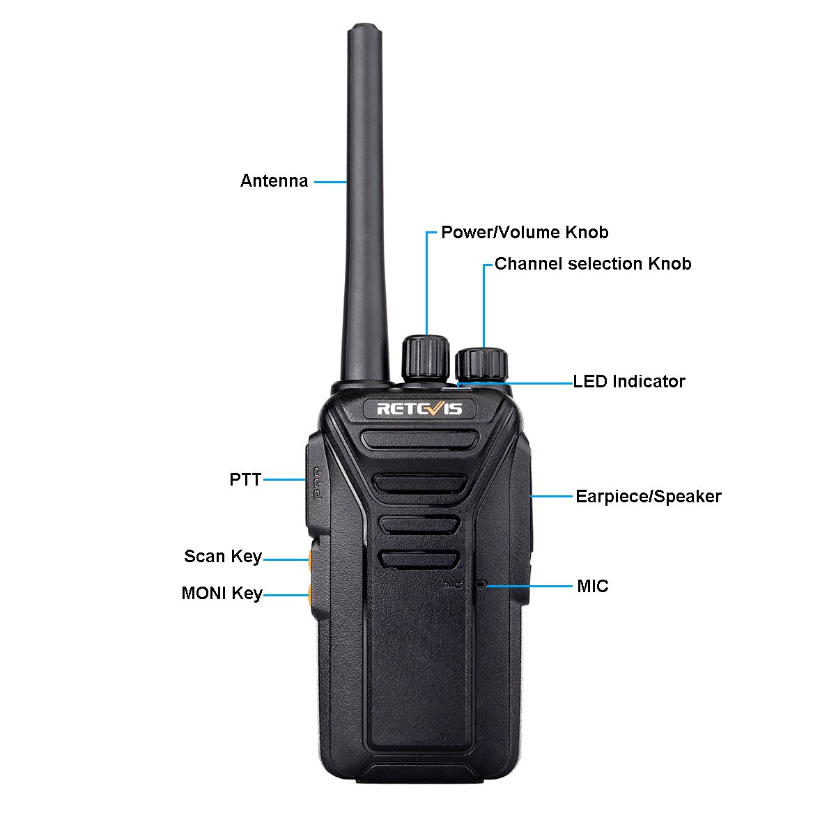 FA9133MX2-C9034AX2-C9003AX2 Retevis RT27V MURS Walkie Talkie VHF Rechargeable 5 Channel Two Way Radios with Covert Air Acoustic Earpiece Black, 2 Pack