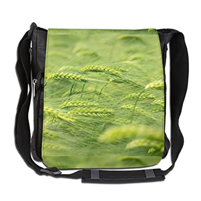 Wheat Plants Green Fashion Print Diagonal Single Shoulder Bag