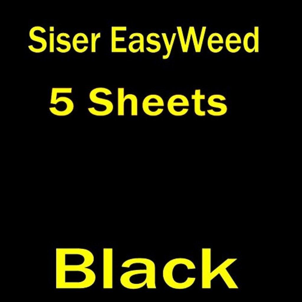 5 sheets of 12 x 15 Siser Easyweed Heat Transfer Vinyl, IRON ON T-shirt Heat Transfer, Craft Garment, (Black) 4337029568