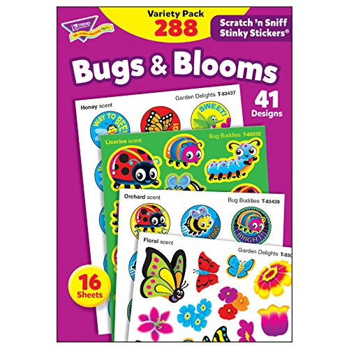 - TREND enterprises, Inc. T-83916 Bugs & Blooms Stinky Stickers Variety Pack, 288/Pack